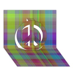 Plaid, Cool Peace Sign 3D Greeting Card (7x5)