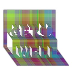 Plaid, Cool Get Well 3d Greeting Card (7x5)