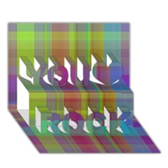 Plaid, Cool You Rock 3d Greeting Card (7x5)