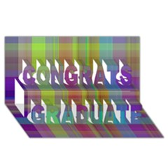 Plaid, Cool Congrats Graduate 3D Greeting Card (8x4)