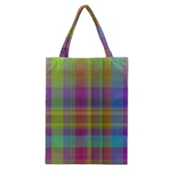 Plaid, Cool Classic Tote Bags