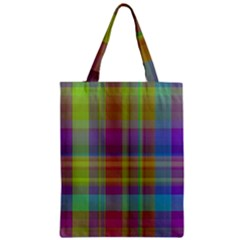 Plaid, Cool Zipper Classic Tote Bags