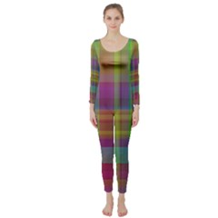 Plaid, Cool Long Sleeve Catsuit