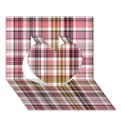Plaid, Candy Heart 3d Greeting Card (7x5)