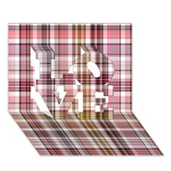 Plaid, Candy Love 3d Greeting Card (7x5)