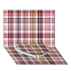 Plaid, Candy Heart Bottom 3d Greeting Card (7x5)