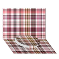 Plaid, Candy Circle Bottom 3D Greeting Card (7x5)
