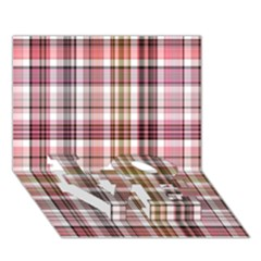 Plaid, Candy LOVE Bottom 3D Greeting Card (7x5)