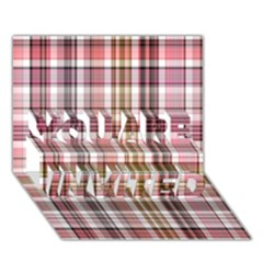 Plaid, Candy YOU ARE INVITED 3D Greeting Card (7x5)