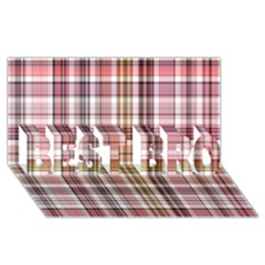 Plaid, Candy BEST BRO 3D Greeting Card (8x4)