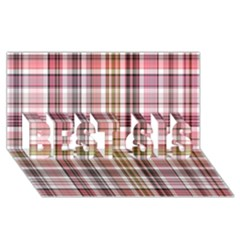 Plaid, Candy BEST SIS 3D Greeting Card (8x4)