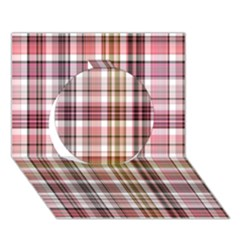 Plaid, Candy Circle 3D Greeting Card (7x5)