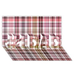 Plaid, Candy #1 DAD 3D Greeting Card (8x4)