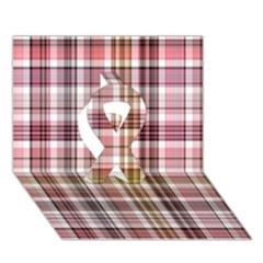 Plaid, Candy Ribbon 3d Greeting Card (7x5)
