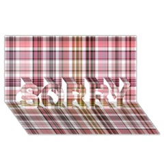 Plaid, Candy SORRY 3D Greeting Card (8x4)