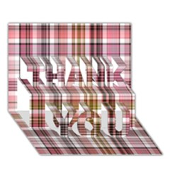 Plaid, Candy Thank You 3d Greeting Card (7x5)