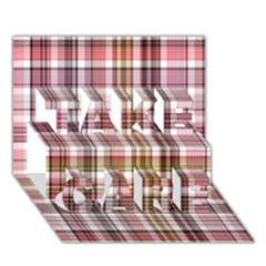 Plaid, Candy Take Care 3d Greeting Card (7x5)