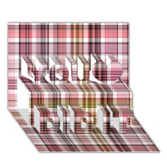 Plaid, Candy You Did It 3d Greeting Card (7x5)