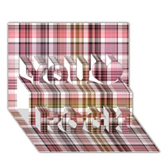 Plaid, Candy You Rock 3d Greeting Card (7x5)
