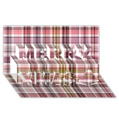 Plaid, Candy Merry Xmas 3D Greeting Card (8x4)