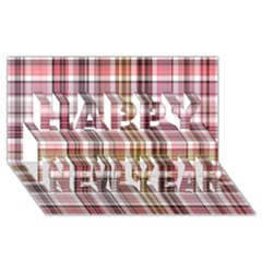 Plaid, Candy Happy New Year 3D Greeting Card (8x4)