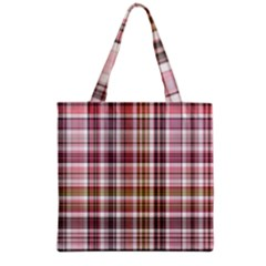 Plaid, Candy Grocery Tote Bags