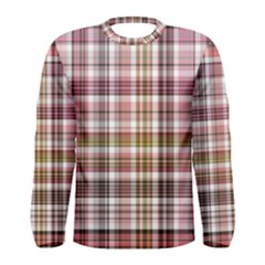 Plaid, Candy Men s Long Sleeve T-shirts