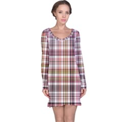 Plaid, Candy Long Sleeve Nightdresses
