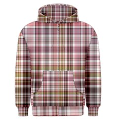 Plaid, Candy Men s Zipper Hoodies