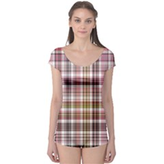 Plaid, Candy Short Sleeve Leotard