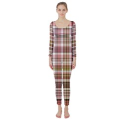 Plaid, Candy Long Sleeve Catsuit