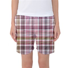 Plaid, Candy Women s Basketball Shorts