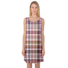 Plaid, Candy Sleeveless Satin Nightdresses