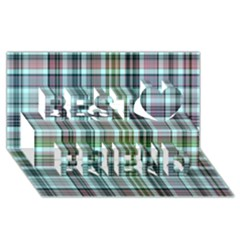 Plaid Ocean Best Friends 3D Greeting Card (8x4)