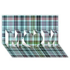 Plaid Ocean Mom 3d Greeting Card (8x4)