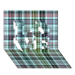 Plaid Ocean LOVE 3D Greeting Card (7x5)