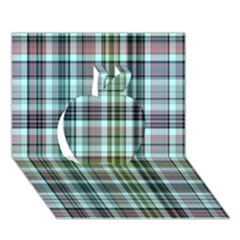 Plaid Ocean Apple 3D Greeting Card (7x5)