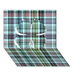 Plaid Ocean Clover 3d Greeting Card (7x5)