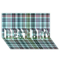 Plaid Ocean BEST BRO 3D Greeting Card (8x4)
