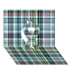 Plaid Ocean Ribbon 3D Greeting Card (7x5)