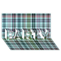 Plaid Ocean PARTY 3D Greeting Card (8x4)