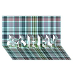 Plaid Ocean Sorry 3d Greeting Card (8x4)