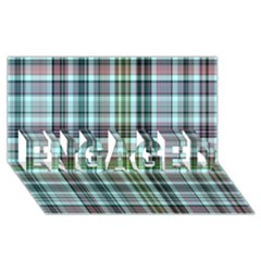 Plaid Ocean ENGAGED 3D Greeting Card (8x4)
