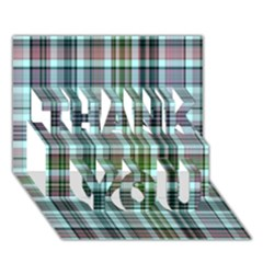 Plaid Ocean Thank You 3d Greeting Card (7x5)