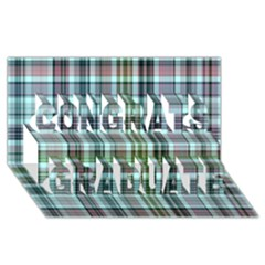 Plaid Ocean Congrats Graduate 3d Greeting Card (8x4)
