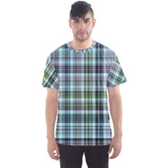 Plaid Ocean Men s Sport Mesh Tees