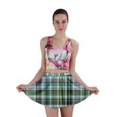 Plaid Ocean Mini Skirts