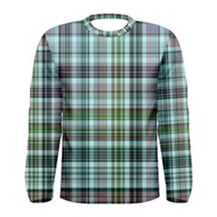 Plaid Ocean Men s Long Sleeve T-shirts