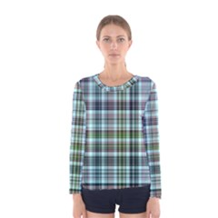 Plaid Ocean Women s Long Sleeve T-shirts