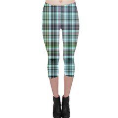 Plaid Ocean Capri Leggings